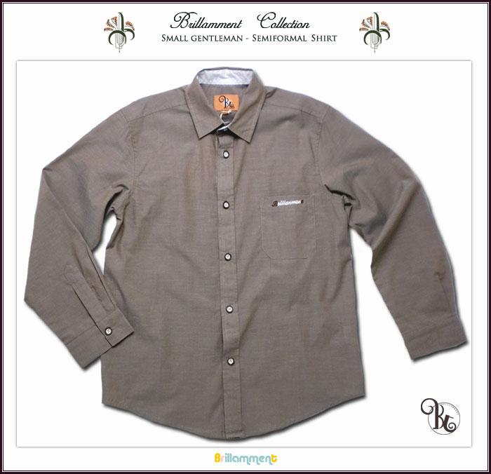 刺繍入りフォーマルに映える高級感ある裏前立て小技を利かせた粋な長袖シャツ