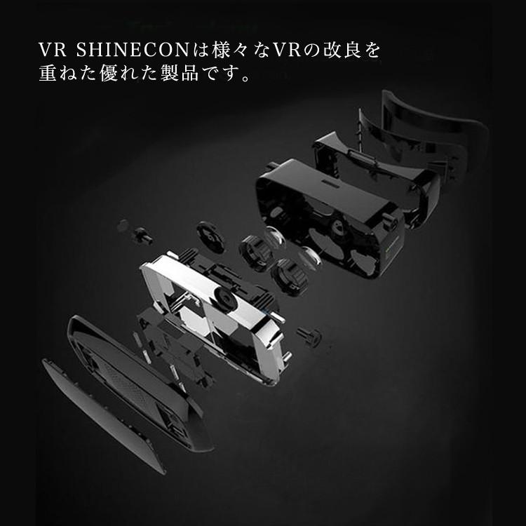(送料無料)VR ゴーグル スマホ VR SHINECON 3Dメガネ VRシネコン ゲーム 360° 動画 アプリ ギャラクシー iphone6対応 iphone7/7plus iphone6/6s/6plus VRGLASSES