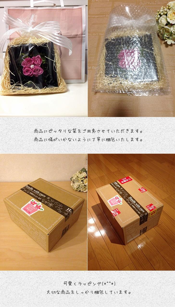プリザーブドフラワーの壁掛けフレームピンクはお部屋のインテリアに、贈り物/送料無料 lpm0020 商品イメージ6