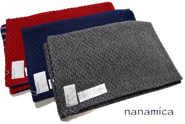 nanamica ナナミカ カレッジ マフラー ニットマフラー ニット×ストライプ