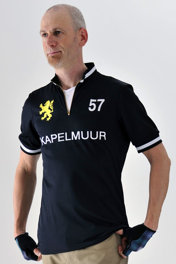 Short Sleeve Retro Cycling Jersey Black